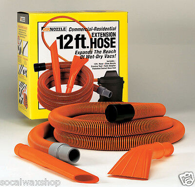 """Mr. Nozzle 12 Ft. Vac Tool Kit Vacuum Hose Crevice Claw 1-1/2"""" Wet/Dry M100DB"""