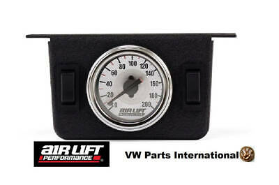 Dual Needle Gauge Panel with two switches 200 PSI – Air Lift Performance