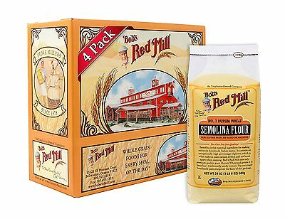 Bobs Red Mill Semolina Pasta Flour, 24-Ounce Pack of 4