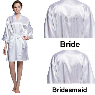 Bridesmaid night-robe Maid of Honor Medium White Wedding Dressing night robe
