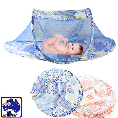 Foldable Baby Mosquito Net Bed Tent Canopy Netting Crib Mattress Playpen BSNE219