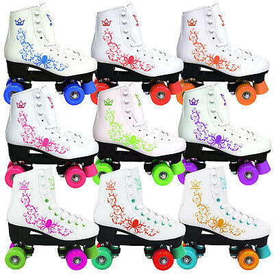 new 2016 KINGDOM VECTOR KIDS LADIES QUAD ROLLER SKATES 3 COLOURS SIZE 11-7UK