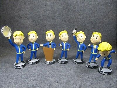 "NEW Fallout 4 5"" Gaming Heads Vault Boy Bobbleheads Series 1 PVC Action Figure"
