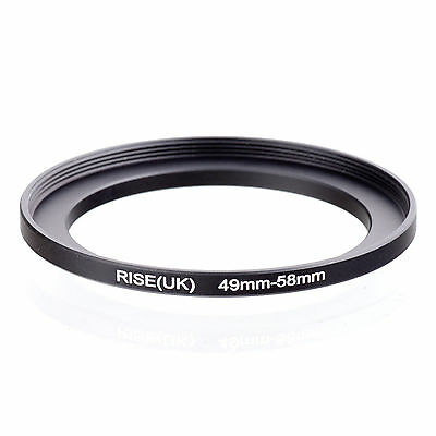 49mm to 58mm 49-58 49-58mm49mm-58mm Stepping Step Up Filter Ring Adapter