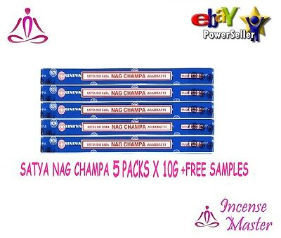 Nag Champa Satya Sai Baba Incense Sticks 10g x 5 Pack Authentic Original +SAMPLE