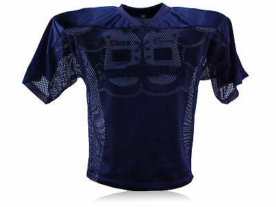 Full Force American Football einfaches Trainingsshirt - navy