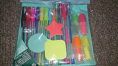 Writing sets -8 Ball Pens, 4 Gel Pens, 3 Sticky Notes, 4 MINI Highlighter