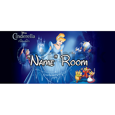 Disney Cinderella Personalised Bedroom Door Sign - Any Name/Text (1)