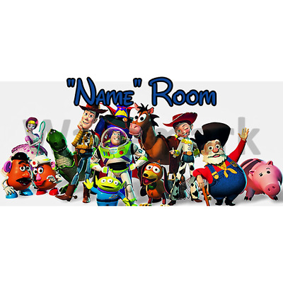 Disney Toy Story Personalised Bedroom Door Sign - Any Text/Name (2)
