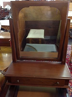Mid 20th Century Stickley Dressing / Shaving Mirror With Drawer Solid Cherry