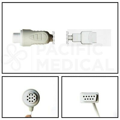 PM GE Datex-Ohmeda 10 Pin to DB9 SpO2 Extension Cable