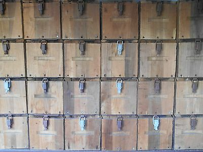 Vintage Original Wood 10 Drawer Cigar 3 Day Dryer/Press Tobacco Case Cabinet
