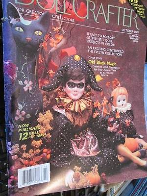 "Doll Crafter Magazine October 1989 -8 Projects-19"" Evelyn Doll Dress Pattern, Ol"