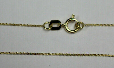 """14K 14Kt Yellow Gold 16"""" 18"""" 20"""" .75mm Dainty Cable Chain with Flat Links"""