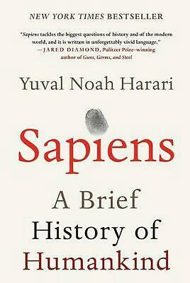 Sapiens: A Brief History of Humankind by Yuval Noah Harari (English) Hardcover B