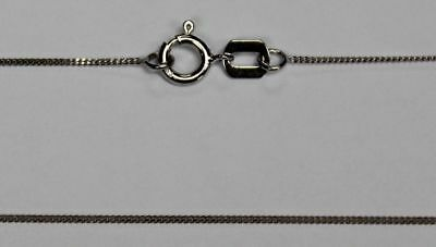 """14K 14Kt White or Yellow Solid Gold 18"""" .7mm Dainty Curb Cuban Chain Spring Ring"""