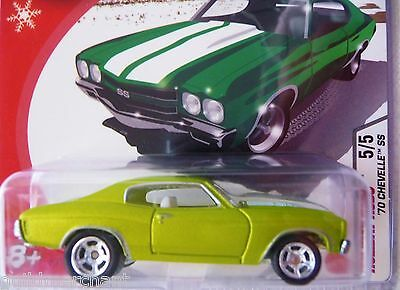 Hot Wheels 1970 CHEVELLE SS Satin Green 2005 HOLIDAY RODS '70 Chevy Chevelle Sup