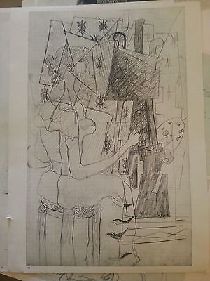 Original GEORGES BRAQUE Lithograph  Maeght Paris rare 1955 at easel