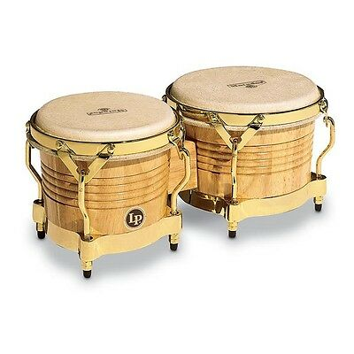 LP Shawn Elsbernd Signature Matador Wood Bongos,Natural w/Gold Hardware, M201-AW