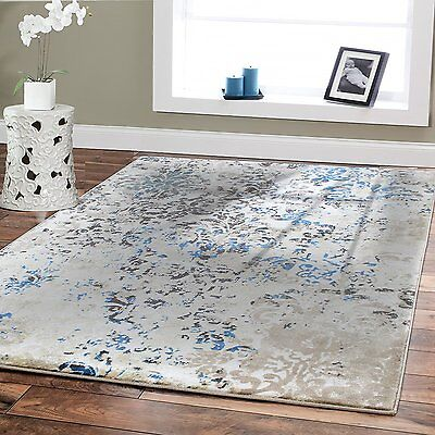 Luxury Area Rugs 8x10 Cream Blue Home Goods Decor 5 X 8 Rug For Living