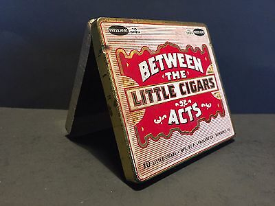 Vintage Cigar Tin Holder Tobacco BETWEEN THE ACTS LITTLE CIGARS