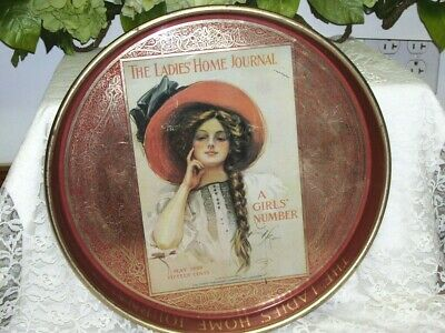 Tray The Ladies Home Journal 1909 A Girl's Number Artist Harrison Fisher