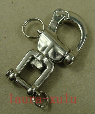 "2.7"" 316# Stainless steel swivel snap shackle sailing boat Yacht SS030"