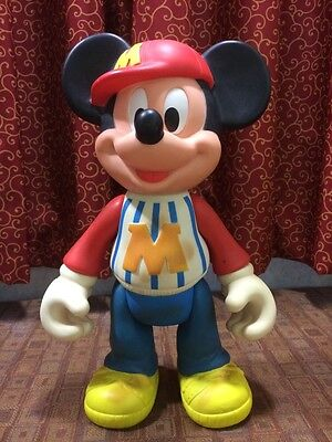"""Rare Vintage Mickey Mouse Articulated Toy Collectible  12"""" H"""