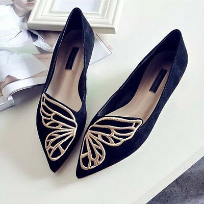 2017 Fashion Womens Casual Ballet Shoes Slip On Flats Loafers Butterfly Shoes