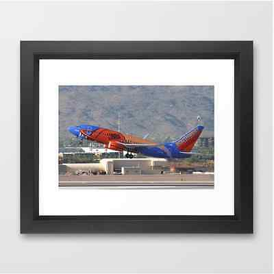 "Southwest Airlines 737 ""NBA"" Takeoff - Framed Print (12x10)"