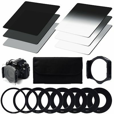 Neutral Density ND Filter ND2 ND4 ND8 Full set + Holder adapters for Cokin P