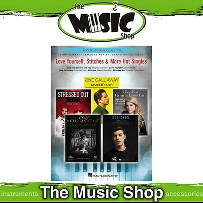 New Love Yourself, Stitches & More Hot Singles Music Book - Pop Piano Hits