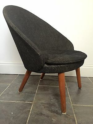 DANISH RARE 301 TUB CHAIR GODFRED H PETERSEN E JOHANSSEN 50's
