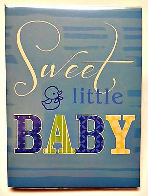 Malden Brag Book Blue Sweet Little Baby Album Holds 36 Photos 4x6 Boys
