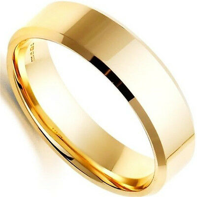 Unisex Size6-13 Men Women's Stainless Steel Ring Band Titanium Silver Black Gold