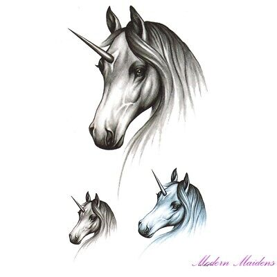 Unicorn Removable Temporary Tattoo Body Art 106x61mm