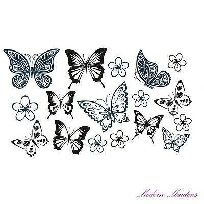 Mixed Butterfly Removable Temporary Tattoo Body Art 106x61mm