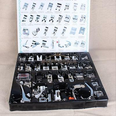 32 PCS Domestic Sewing Machine Foot Presser Feet Set for Brother Singer Janome