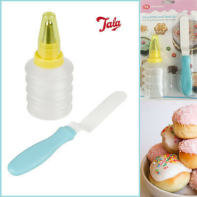 Mini Icing Bottle & Spatula Adult &  Kid's Bakery Party Cake Bun Decor Gift Pack