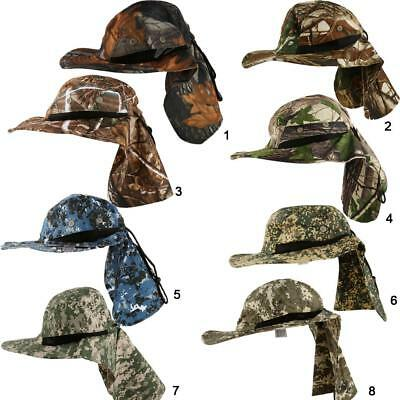Outdoor Fishing Hunting Wide Brim Boonie Neck Cover Bucket Sun Flap Hat Bush Cap