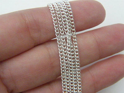 5 metres Silver chain necklace making kit, jumprings toggle and lobster clasps