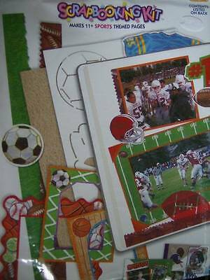 """Memories Forever Scrapbooking Kit Sports Themed- Makes 11 -8.5x11"""" Pages"""