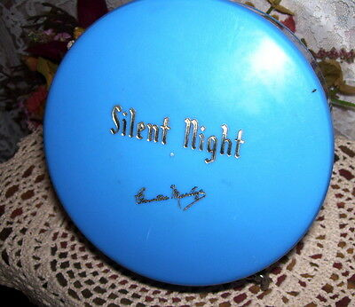 POWDER BOX SILENT NIGHT  by Countess Maritza VINTAGE COLOR IS BLUE