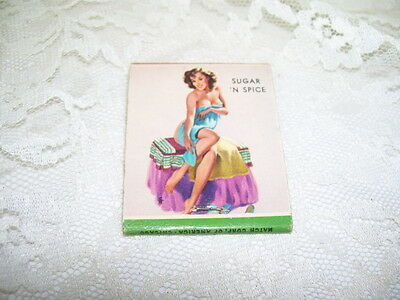 Pin-Up Girl Sugar 'n Spice Matchbook Romy's Bar Norristown Pa