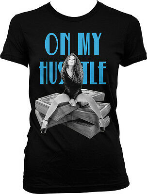 15651eac03553b On My Hustle Grind Money Paper Work Workaholic Trap Game Juniors T-shirt