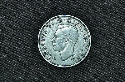 Great Britain Florin (2 Shillings) Silver Coin, 1937
