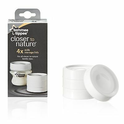 Tommee Tippee Closed to Nature 4 x Milk Storage Lids - 43136171