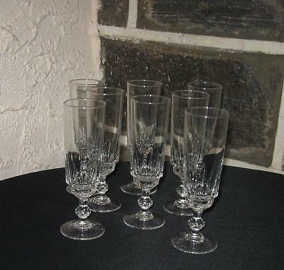 Champagne flutes shorts 5 oz or tall cordials fine lot of 8 marked FRANCE
