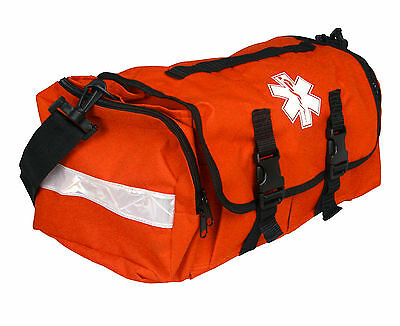 "First Responder Emt Paramedic On Call Trauma Bag W/ Reflectors- Orange 17""x7X10"""