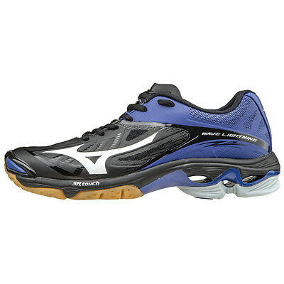 Mizuno Wave Lightning Z2 Women's Volleyball Shoes - Black & Royal - 430202